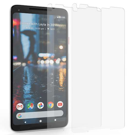 Google Pixel 2 XL Screen Protector Glass | 2 Pack - NO Bulkiness | Anti Scratch | Tempered Glass Screen Protectors For The Google Pixel 2 XL | Ultra Slim - Crystal Clear