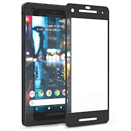 Google Pixel 2 Tempered Glass Screen Protector Black Edge - Twin Pack