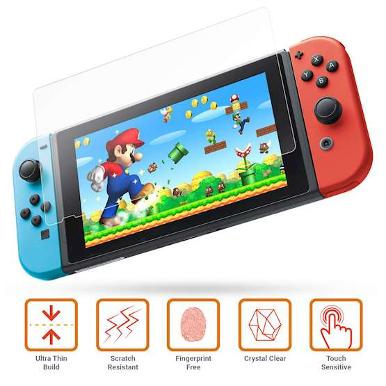 NINTENDO SWITCH GLASS SCREEN PROTECTOR (2-PACK)