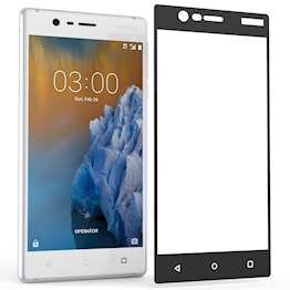 Nokia 3 Tempered Glass Screen Protector Glass Black Edge