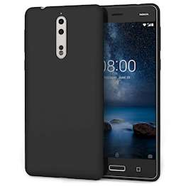 Nokia 8 Case,  Scratch Resistant - Ultra Slim & Lightweight - NO Bulkiness - TPU Gel Soft Thin Silicone Back Cover - Solid Black Matte