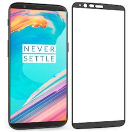 OnePlus 5T Tempered Glass Single Black edge