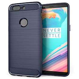 OnePlus 5T Carbon Fibre Gel Case - Blue