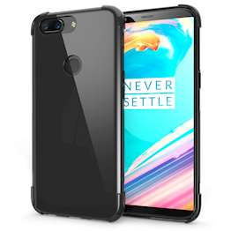 OnePlus 5T Case,  Scratch Resistant - Ultra Slim & Lightweight - NO Bulkiness - TPU Gel Soft Thin Silicone Back Cover - Black