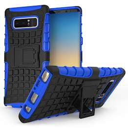 Samsung Galaxy Note 8 Kickstand Combo Case - Black / Blue