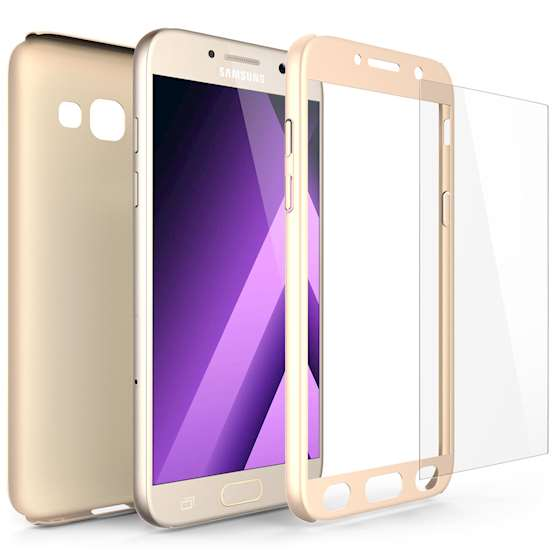 Samsung Galaxy A5 (2017) Case,  Scratch Resistant - Ultra Slim & Lightweight - NO Bulkiness - TPU Gel Soft Thin Silicone Back Cover - Gold