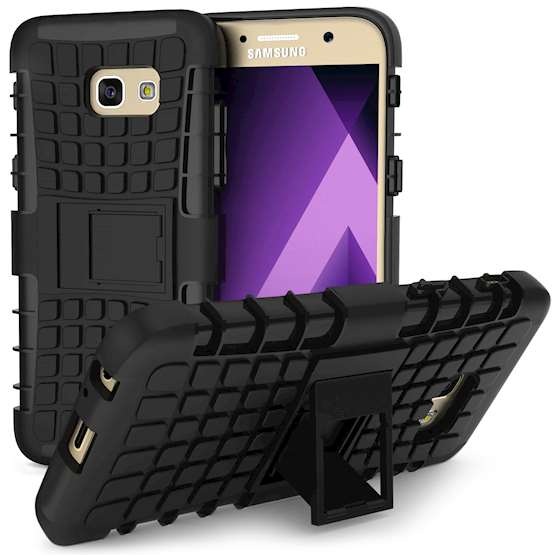Samsung Galaxy A5 (2017) Case, Sturdy Heavy Duty Protection With Built In Viewing Stand Lightweight