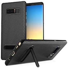 Samsung Galaxy Note 8 Ultra Thin Slim Carbon Tpu Case With Stand - Black