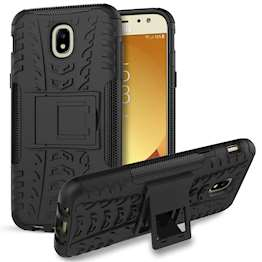 Samsung Galaxy J5 (2017) Case, Sturdy Heavy Duty Protection With Built In Viewing Stand Lightweight | Anti Drop | Impact Resistant Samsung Galaxy J5 (2017) Case - Black