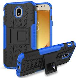 Samsung Galaxy J5 (2017) Case, Sturdy Heavy Duty Protection With Built In Viewing Stand Lightweight | Anti Drop | Impact Resistant Samsung Galaxy J5 (2017) Case - Black & Blue