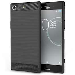 Sony Xperia XZ Premium Carbon Fibre Gel Case - Black