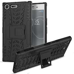 Sony Xperia XZ Premium Case, Sturdy Heavy Duty Protection With Built In Viewing Stand Lightweight | Anti Drop | Impact Resistant Sony Xperia XZ Premium Case - Black