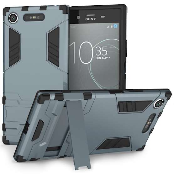 Sony Xperia XZ1 Case, ExtremeHeavy Duty ArmourCase For The Sony Xperia XZ1 | Shockproof Dual LayerFull Body Cover | Drop and Impact Protection - Steel Blue