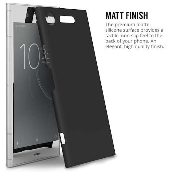 Sony Xperia XZ1 Case,  Scratch Resistant - Matte Finish  - Lightweight & NO Bulkiness - TPU Gel Soft Thin Silicone Back Cover - Matte Black