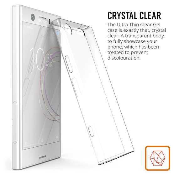 Sony Xperia XZ1 Compact  Case,  Scratch Resistant - Ultra Slim & Lightweight - NO Bulkiness - TPU Gel Soft Thin Silicone Back Cover - Crystal Clear