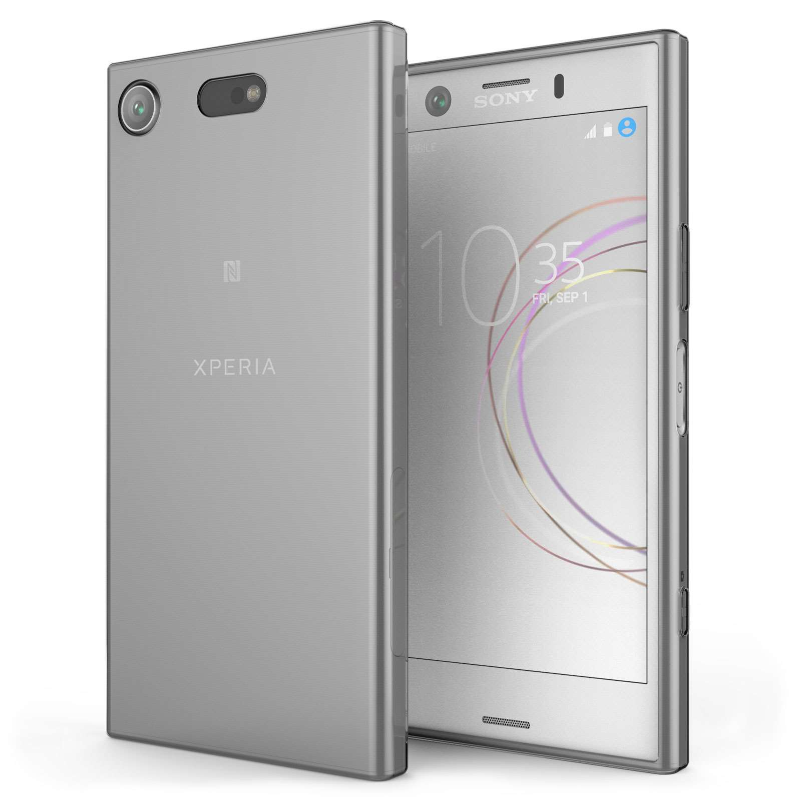 sony xperia xz1 compact ultra thin gel case smoke black. Black Bedroom Furniture Sets. Home Design Ideas