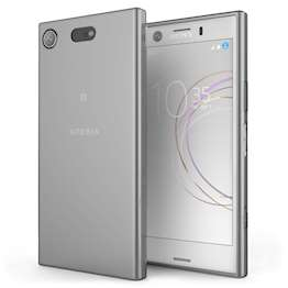 Sony Xperia XZ1 Compact Case,  Scratch Resistant - Ultra Slim & Lightweight - NO Bulkiness - TPU Gel Soft Thin Silicone Back Cover - Smoke Black