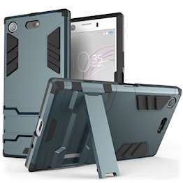 Sony Xperia XZ1 Compact Case, Extreme Heavy Duty Armour Case For The Sony Xperia XZ1 Compact | Shockproof Dual Layer Full Body Cover | Drop and Impact Protection - Steel Blue