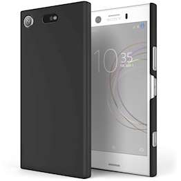 Sony Xperia XZ1 Compact Case,  Scratch Resistant - Matte Finish  - Lightweight & NO Bulkiness - TPU Gel Soft Thin Silicone Back Cover - Matte Black