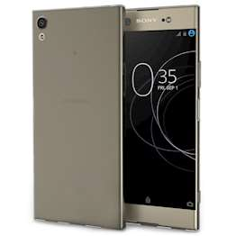 Sony Xperia XA1 Plus Case,  Scratch Resistant - Ultra Slim & Lightweight - NO Bulkiness - TPU Gel Soft Thin Silicone Back Cover - Smoke Black