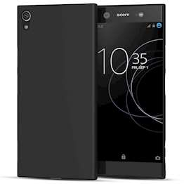 Sony Xperia XA1 Plus Case,  Scratch Resistant - Ultra Slim & Lightweight - NO Bulkiness - TPU  Soft Thin Silicone Back Cover - Matte Black