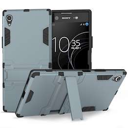 Sony Xperia XA1 Plus Case, Extreme Heavy Duty Armour Case For The Sony Xperia XA1 Plus | Shockproof Dual Layer Full Body Cover | Drop and Impact Protection - Steel Blue