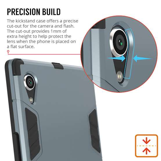 Sony Xperia XA1 Plus Case, ExtremeHeavy Duty ArmourCase For The Sony Xperia XA1 Plus | Shockproof Dual LayerFull Body Cover | Drop and Impact Protection - Steel Blue