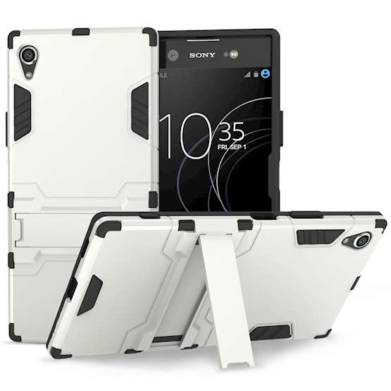 Sony Xperia XA1 Plus Case, ExtremeHeavy Duty ArmourCase For The Sony Xperia XA1 Plus | Shockproof Dual LayerFull Body Cover | Drop and Impact Protection - Silver