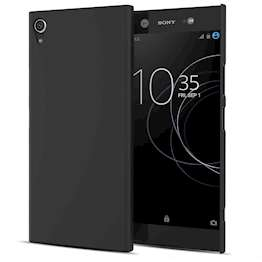 Sony Xperia XA1 Plus Case,  Scratch Resistant - Matte Finish  - Lightweight & NO Bulkiness - TPU Gel Soft Thin Silicone Back Cover - Matte Black