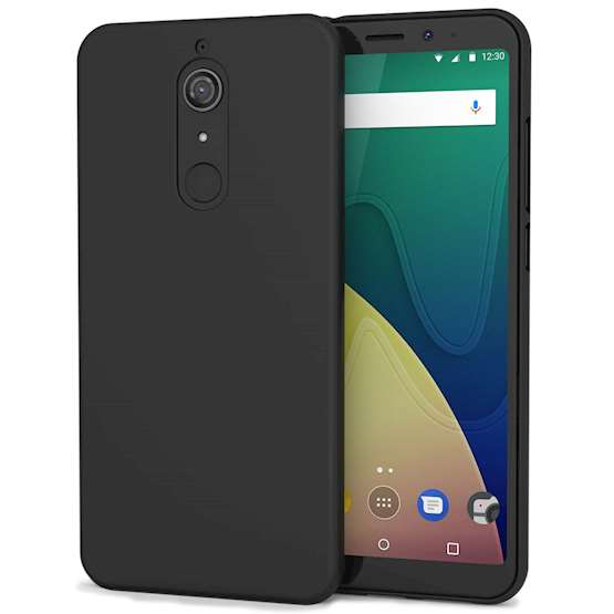 Wiko View XL Case,  Scratch Resistant - Ultra Slim & Lightweight - NO Bulkiness - TPU Gel Soft Thin Silicone Back Cover - Solid Black Matte