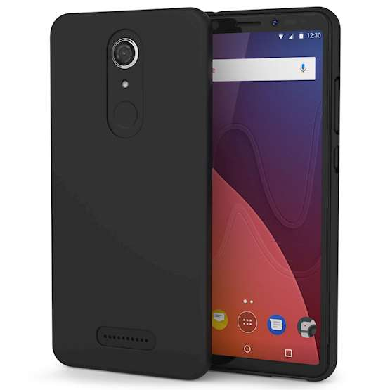 Wiko View Case,  Scratch Resistant - Ultra Slim & Lightweight - NO Bulkiness - TPU  Soft Thin Silicone Back Cover - Matte Black
