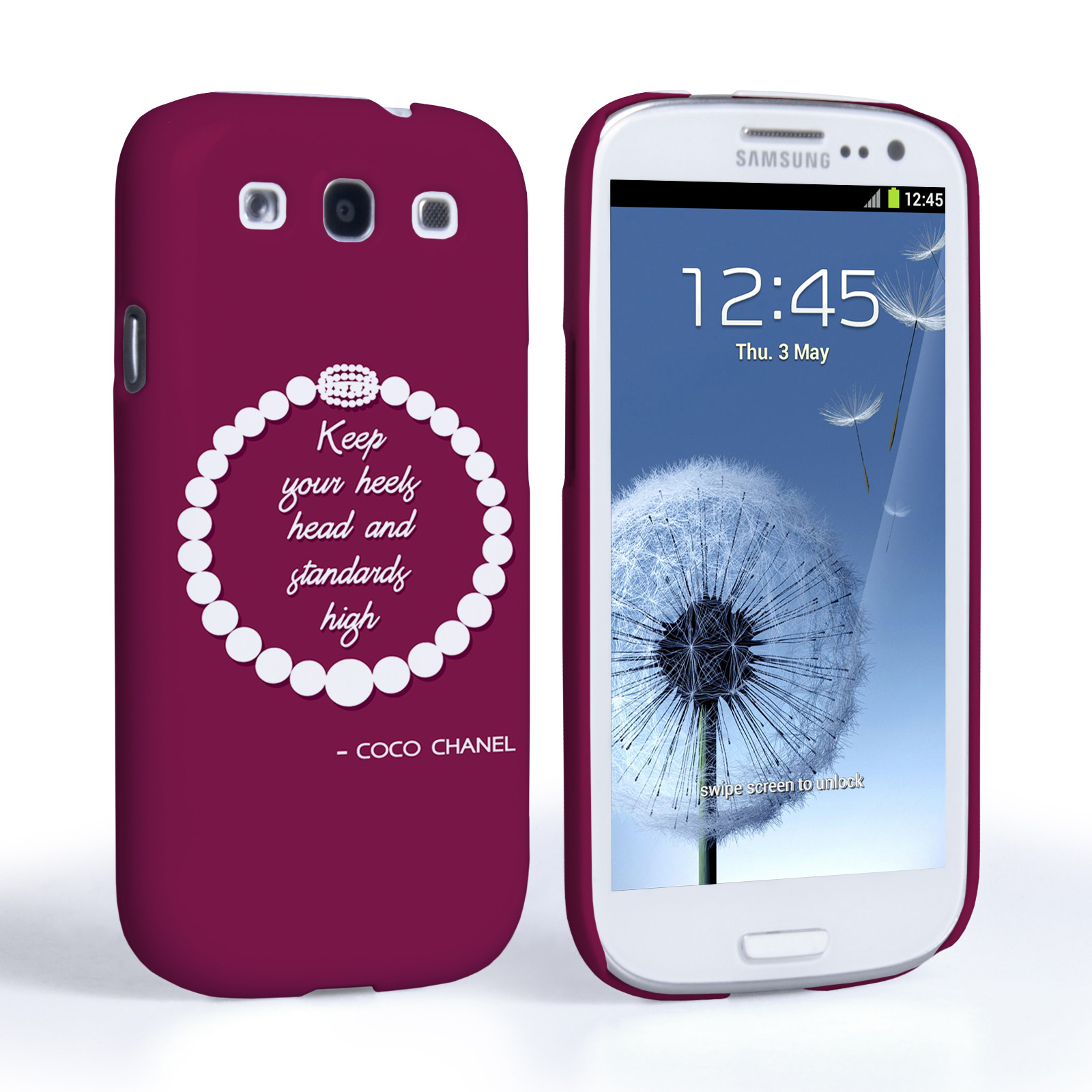 Caseflex Samsung Galaxy S3 Chanel Diamond And Pearls Quote Case