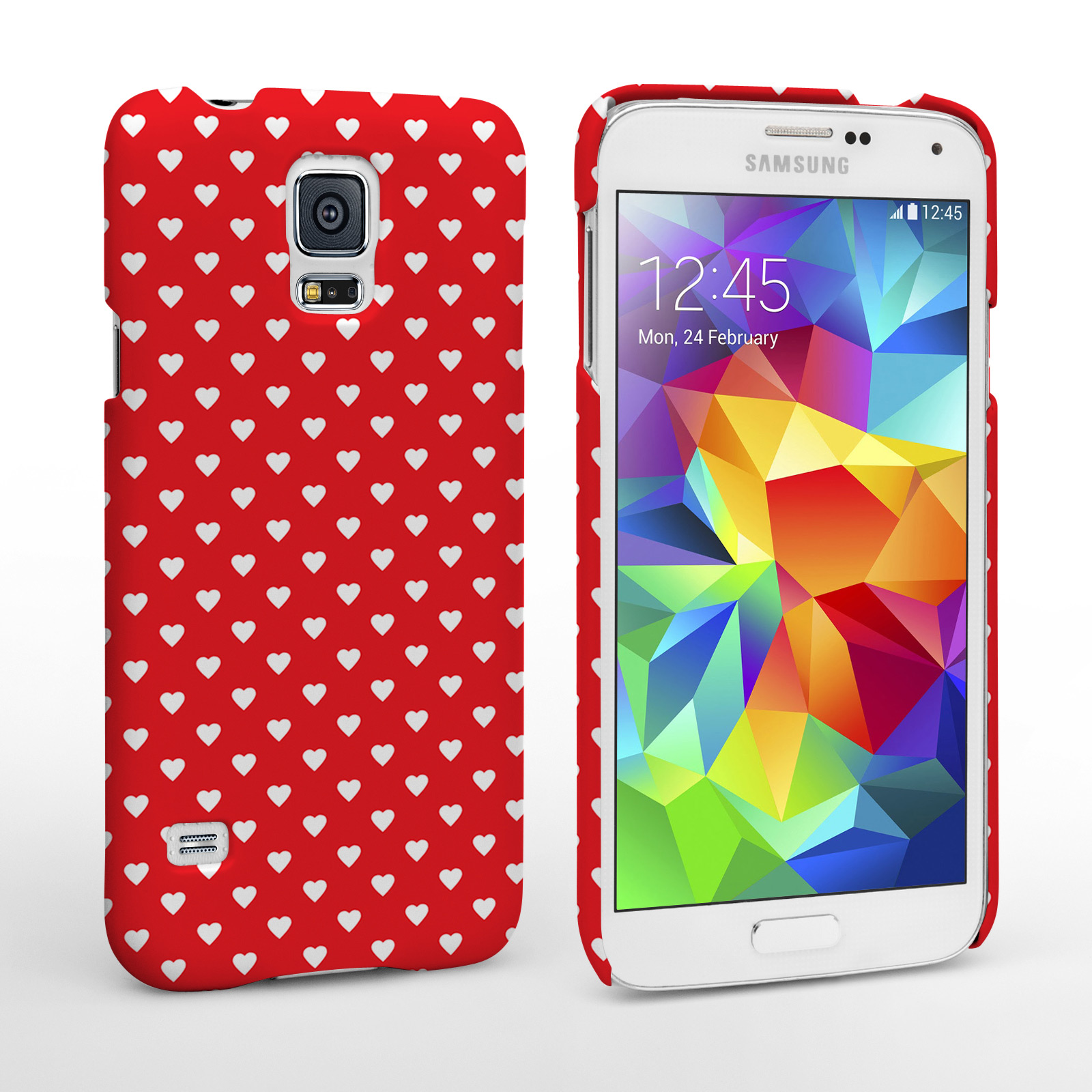 Caseflex Samsung Galaxy S5 Cute Hearts Case - Red