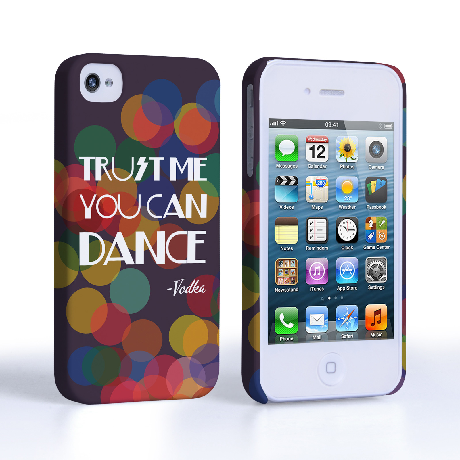 Caseflex iPhone 4 / 4S Vodka Dance Quote Hard Case – Purple