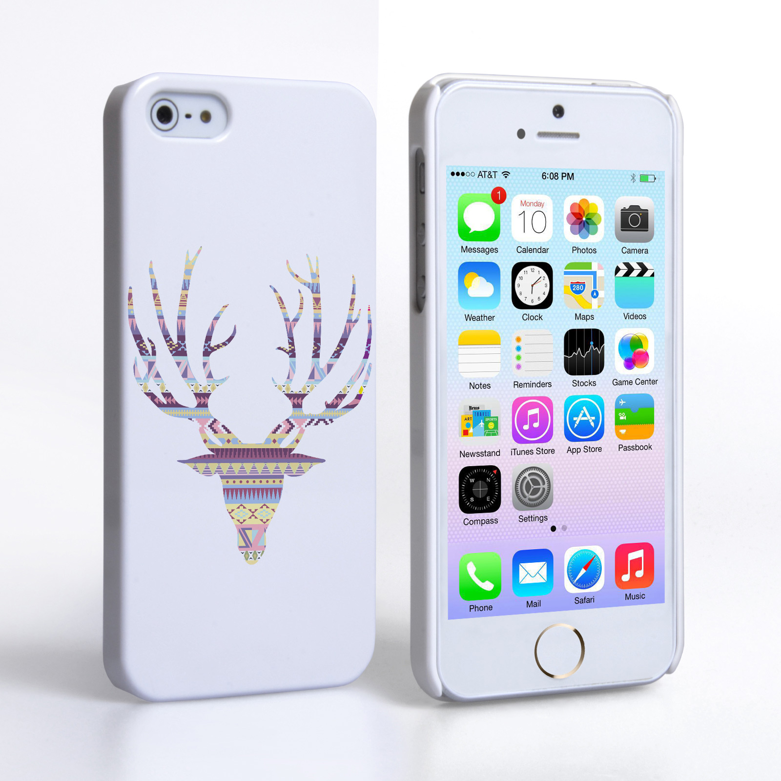 Caseflex iPhone 5 / 5S Aztec Stag Hard Case