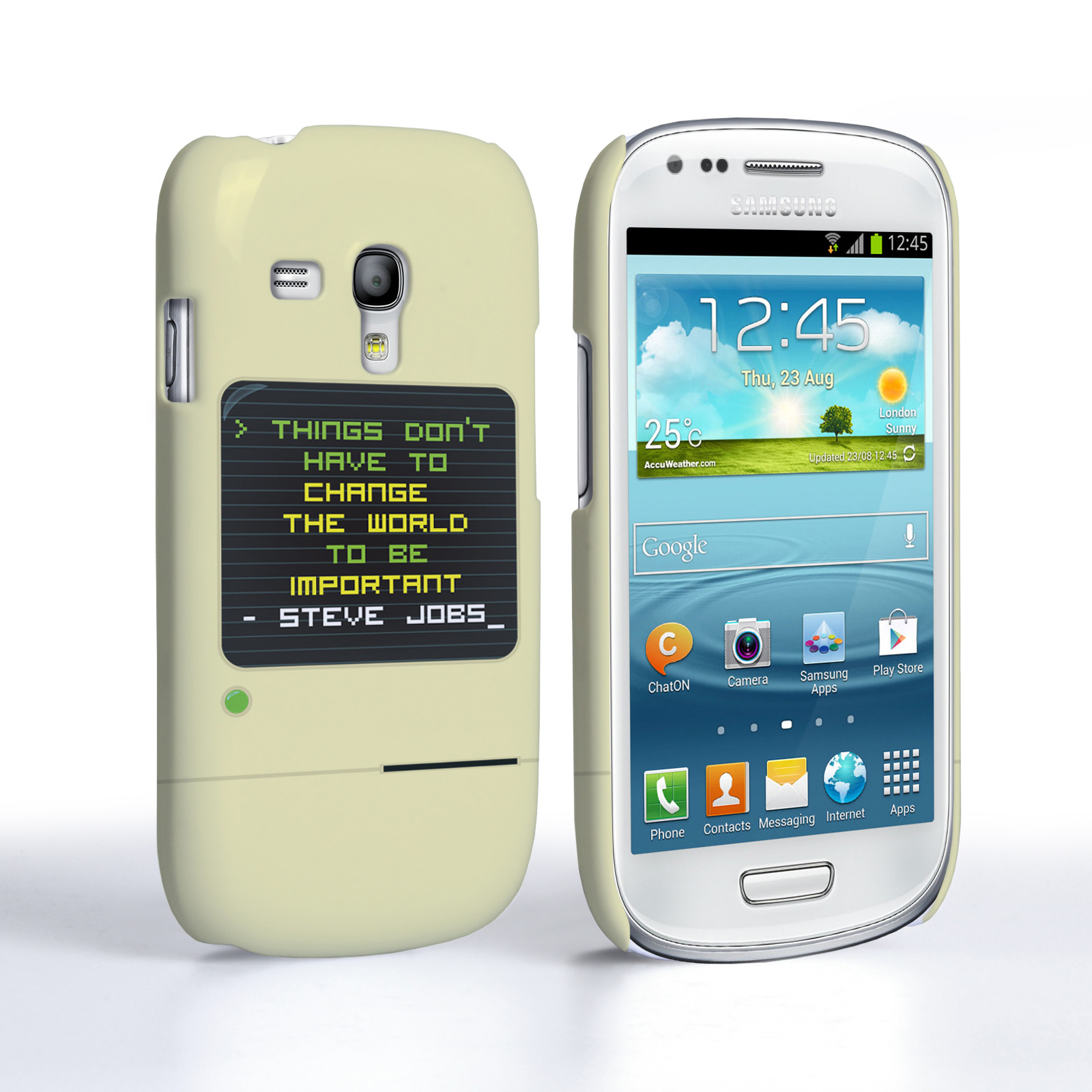 Caseflex Samsung Galaxy S3 Mini Steve Jobs Quote Case