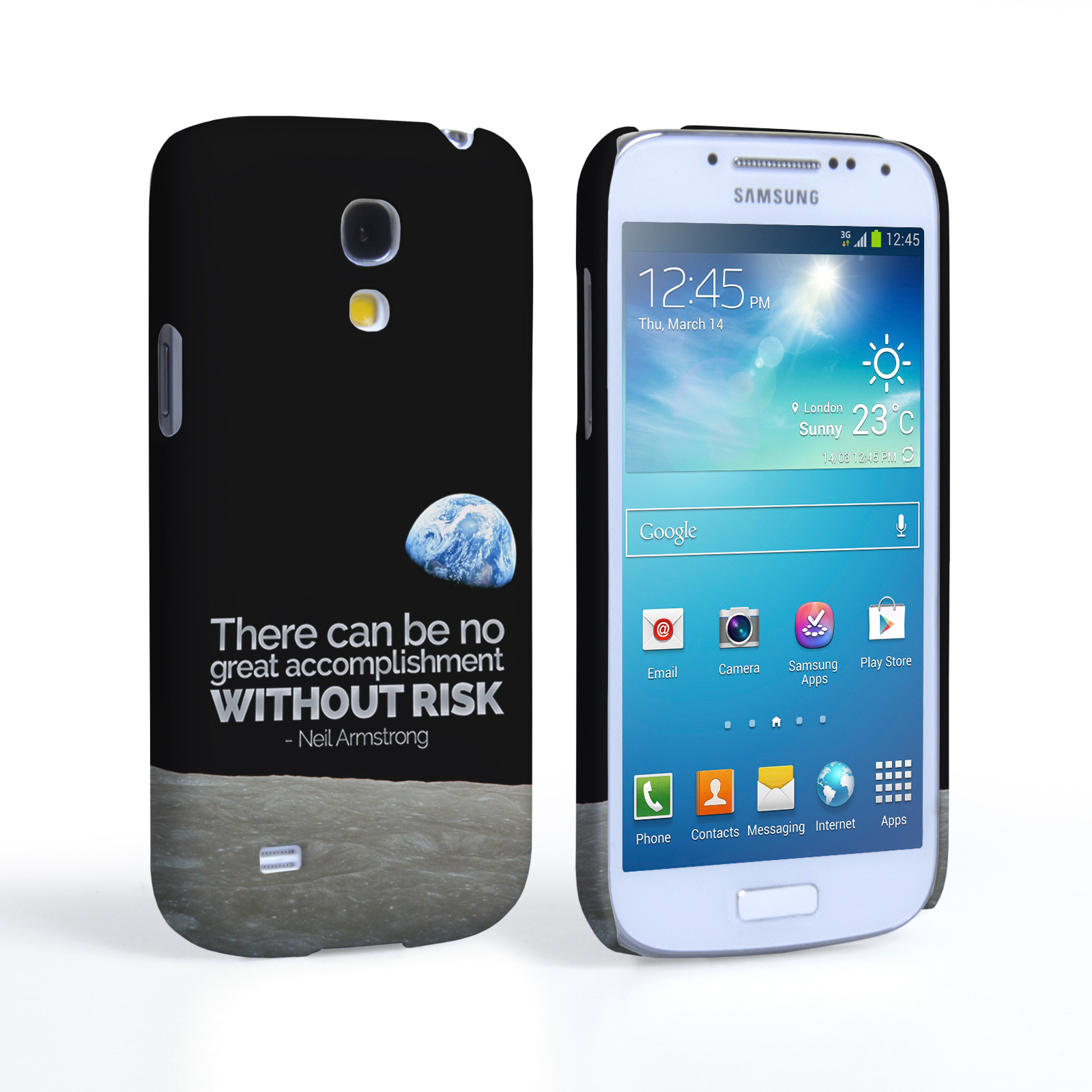 Caseflex Samsung Galaxy S4 Mini Neil Armstrong Quote Case