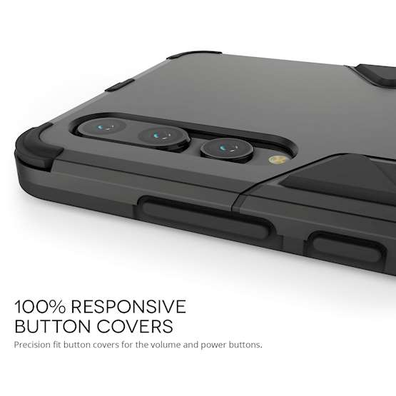 Huawei P20 Pro Armour Kickstand - Steel Black