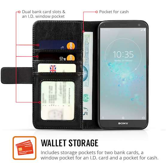 Sony Xperia XZ2 Compact Real ID Wallet - Black