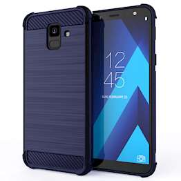Samsung Galaxy A6 (2018) Carbon Anti Fall TPU Case - Blue
