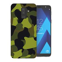 Samsung A6 Plus (2018) Green Camouflage TPU Gel Case