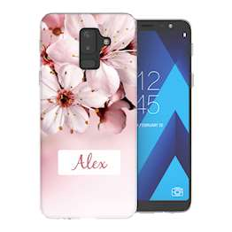 Samsung A6 Plus (2018) Light Pink Floral Personalised TPU Gel Case