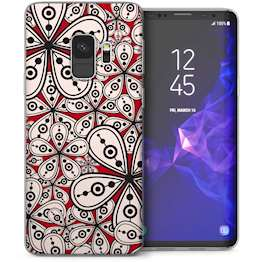 Samsung Galaxy S9 Floral Psychedelia TPU Gel Case – Red