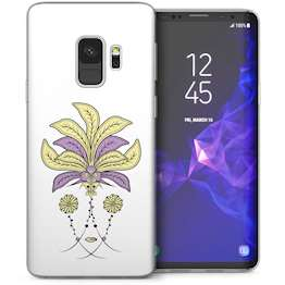 Samsung Galaxy S9 Art Deco Floral TPU Gel Case – White