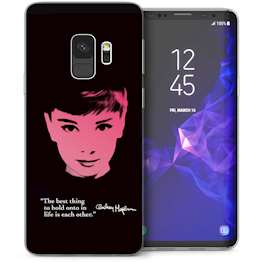 Samsung Galaxy S9 Audrey Hepburn Quote TPU Gel Case – Black