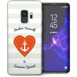Samsung Galaxy S9 Anchor Someone Special Message TPU Gel Case – White