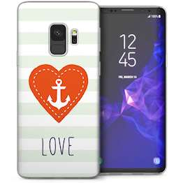 Samsung Galaxy S9 Anchor Love Message TPU Gel Case – White