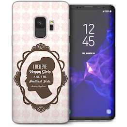 Samsung Galaxy S9 Audrey Hepburn Cameo Quote TPU Gel Case – White