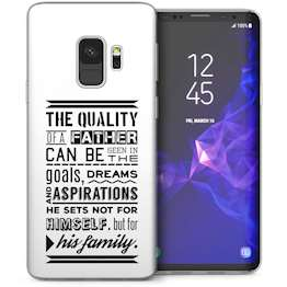 Samsung Galaxy S9 Dad Goals Quote TPU Gel Case – White