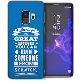 Samsung Galaxy S9 Dad Fatherhood Funny Quote TPU Gel Case – Blue